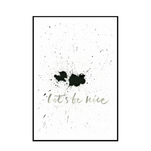"Ylva Skarp Kunstdruck ""Let´s be nice "" 21cm x 30cm - LAZY SUNDAY LAZY SUNDAY"