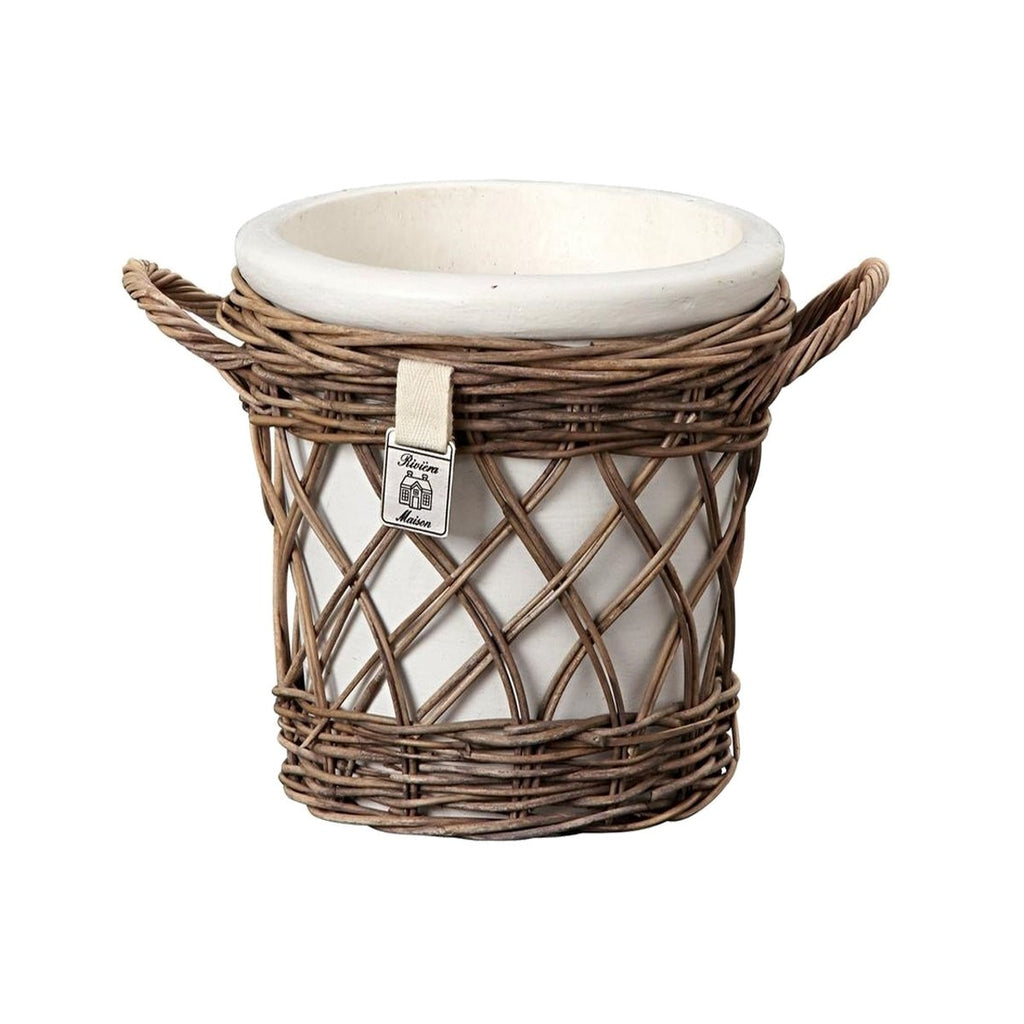 Riviera Maison Cachepot Rattan Open Weave L - LAZY SUNDAY LAZY SUNDAY