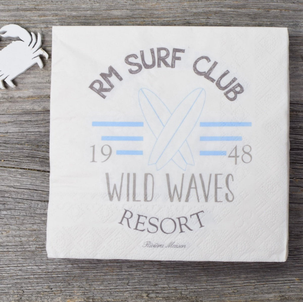 Riviera Maison Sale Papierserviette Surf Club - LAZY SUNDAY LAZY SUNDAY