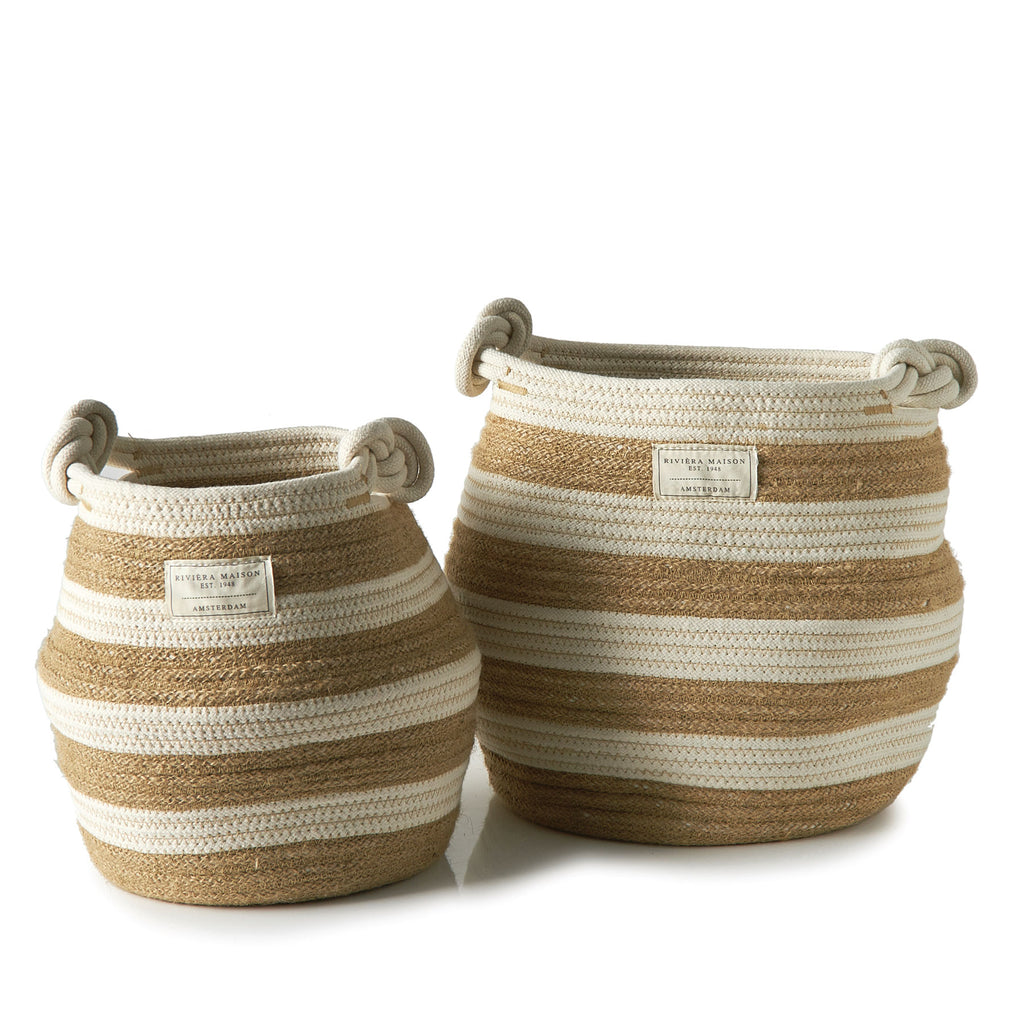 Sorrento Stripe Basket