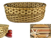 """Claire"" - Basket Weaving Pattern - Twill Weave Gathering Basket"