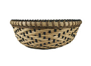 """Tempest"" - Basket Weaving Pattern - Round Table Basket / Wood Base"