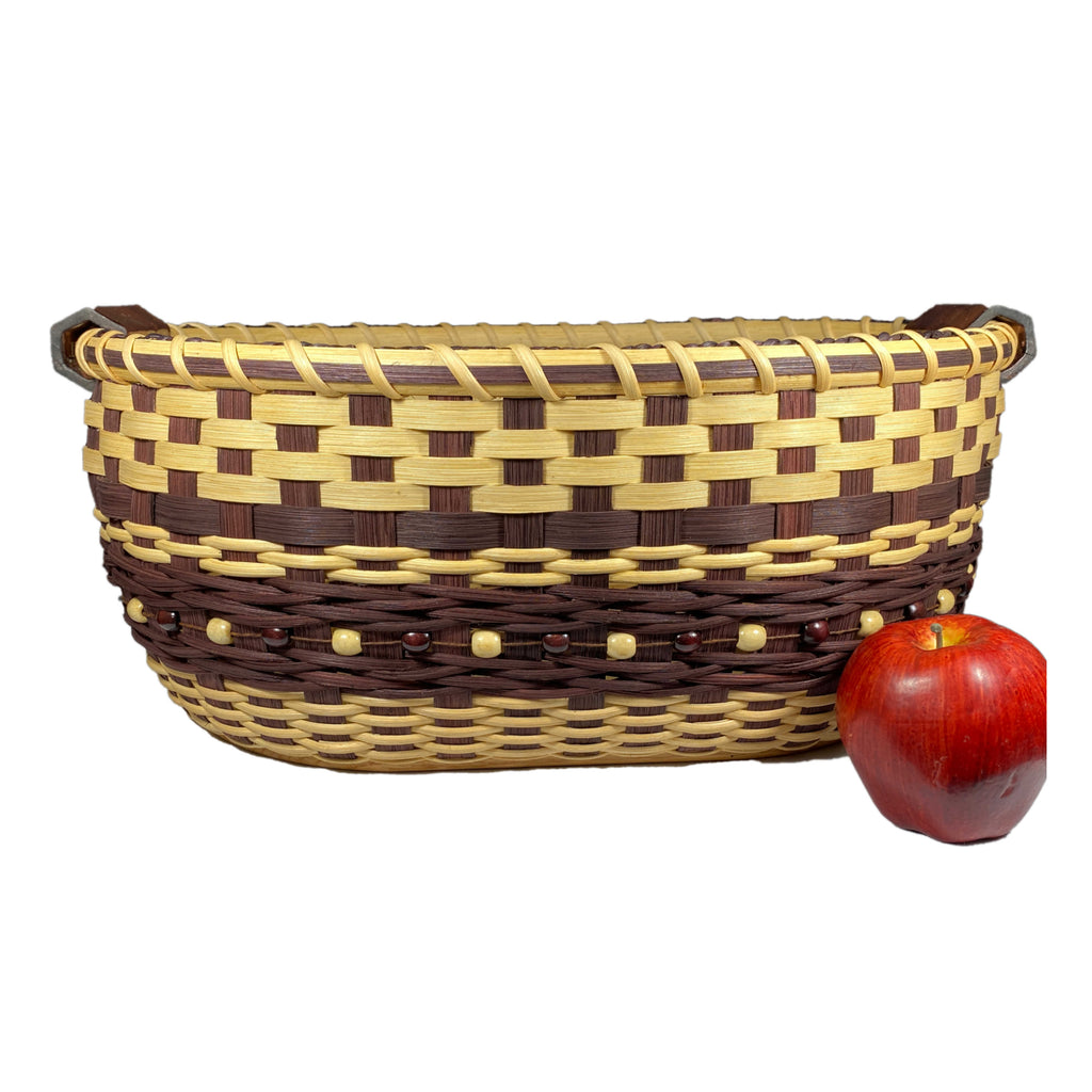 """Hazel"" - Basket Weaving Pattern - Gathering Basket with Pottery Handles"