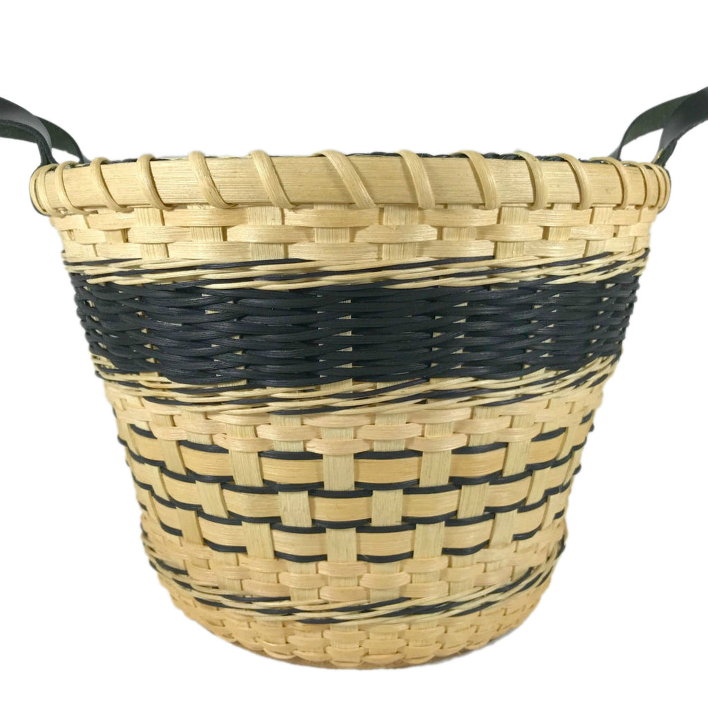 """Raven"" - Basket Weaving Pattern - Bucket Basket with Three Strand Braid"