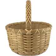 """Emily Grace"" - Basket Weaving Pattern - Round Market with Braided Handle"