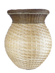 """Luciana"" - Basket Weaving Pattern for Tall Vase with Gretchen Border"