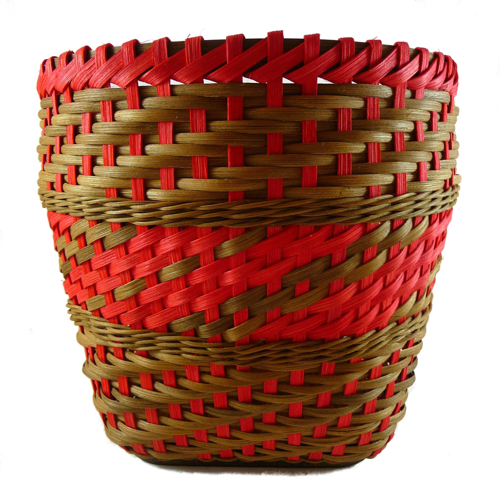 """Jagoda"" - Basket Weaving Pattern - Twill Weave with Randing and Match Stick Rim - Bright Expectations Baskets - Instant Digital Download Pattern"