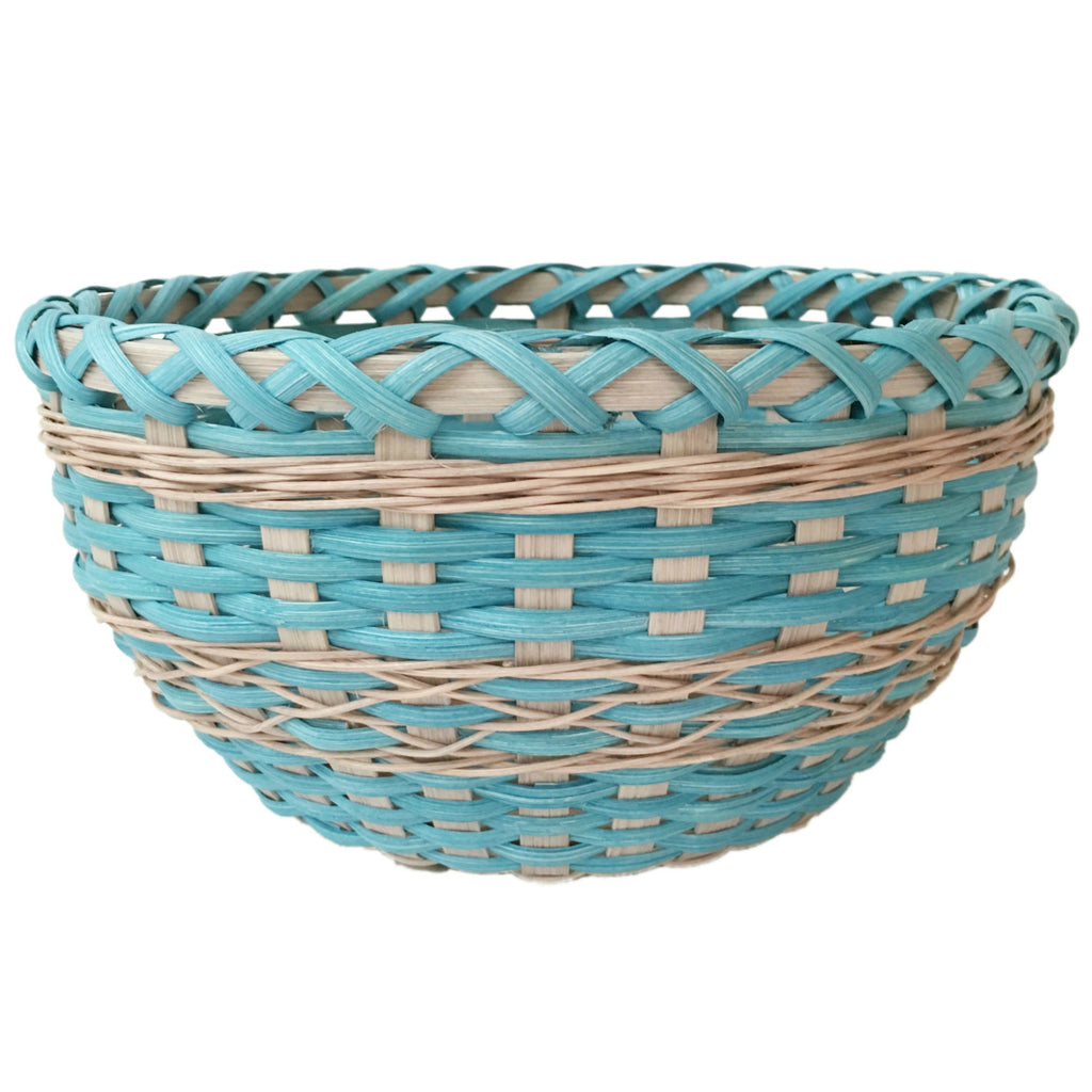 """Skylar"" - Basket Weaving Pattern - Table Basket with Twined Accent"