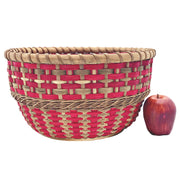 """Cynthia"" - Basket Weaving Pattern - Table Basket with Twined Accent"
