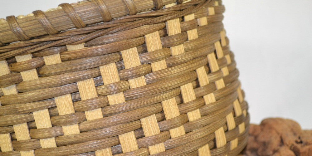 Cascading Twill Weave Table Basket