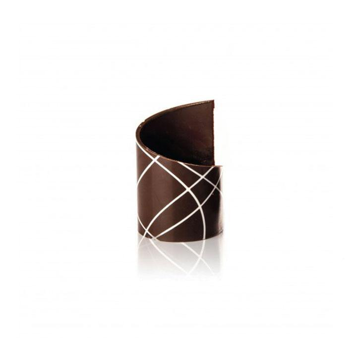 STRIPED ASYMMETRIC RING DARK DOBLA