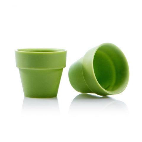 FLOWER POT CUP LARGE GREEN DOBLA