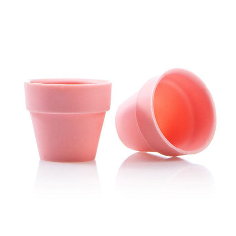 FLOWER POT CUP LARGE PINK DOBLA