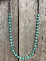 J.Forks Turquoise and Brown Shell Necklace