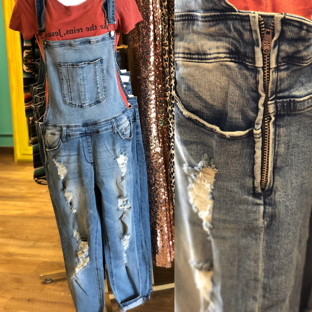 Kandice Denim Overalls