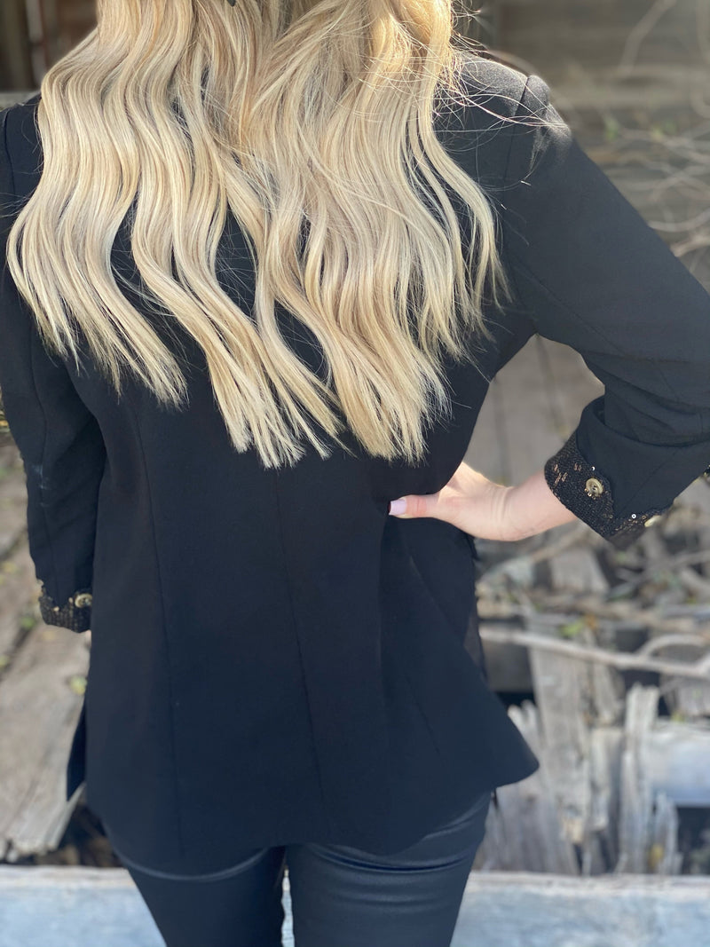 Black and Gold Blazer