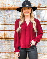 Burgundy Jane Top
