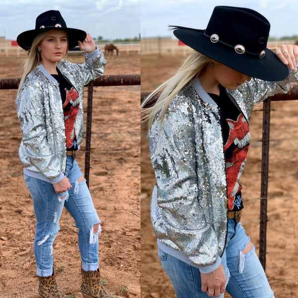 Sequin Bomber Jackets