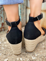 Black Nubuck Wedge