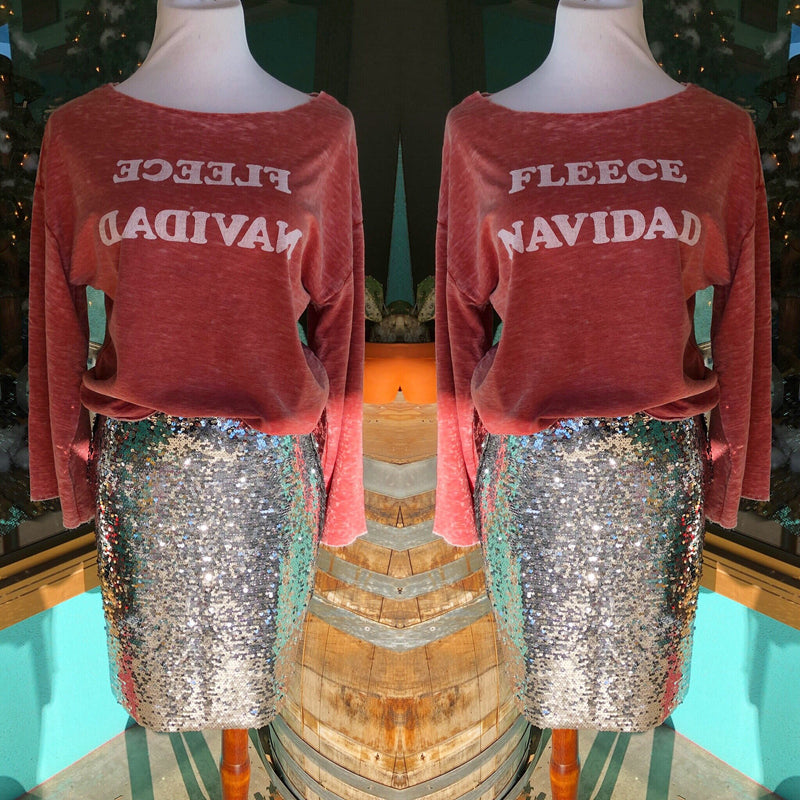 Fleece Navidad Bell Sleeved Top