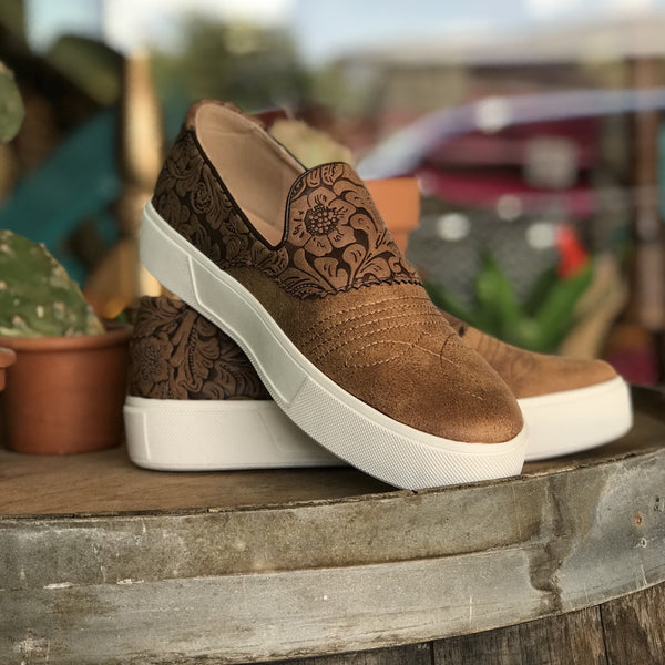 Stockyard Tooled Sneaker