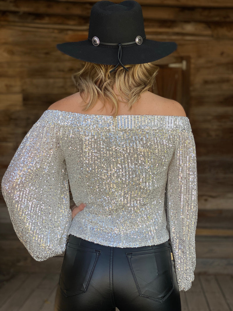 Fisher Sequin Top