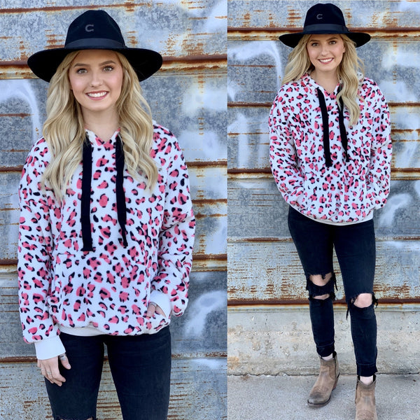 Pink Leopard Pullover