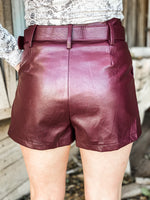 Shania Faux Leather Shorts