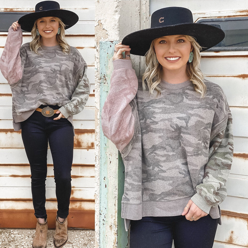 Vintage Havana Camo Burnout Top