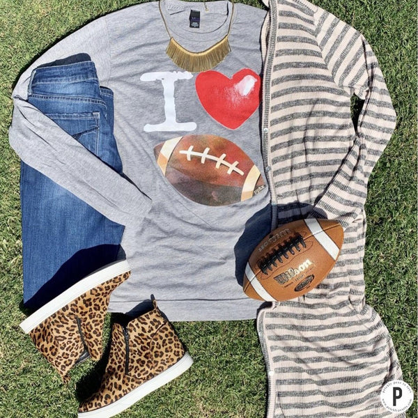I heart Football long sleeve