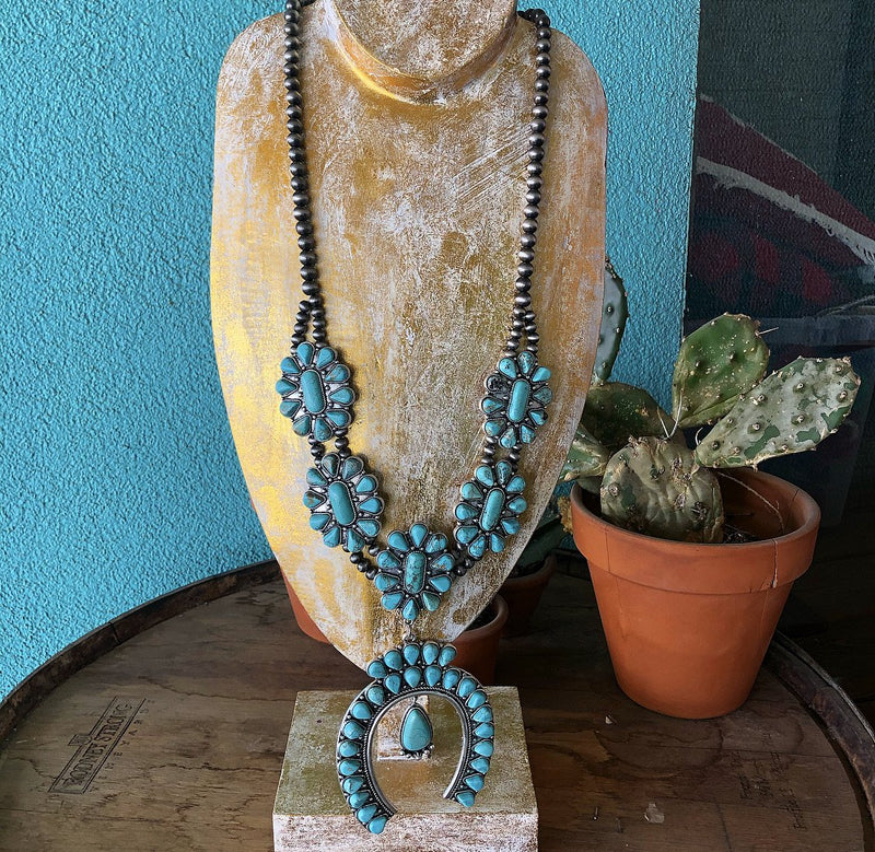 Paisley Full Squash Blossom Necklace