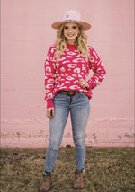 Hannah Hot Pink Leopard Sweater