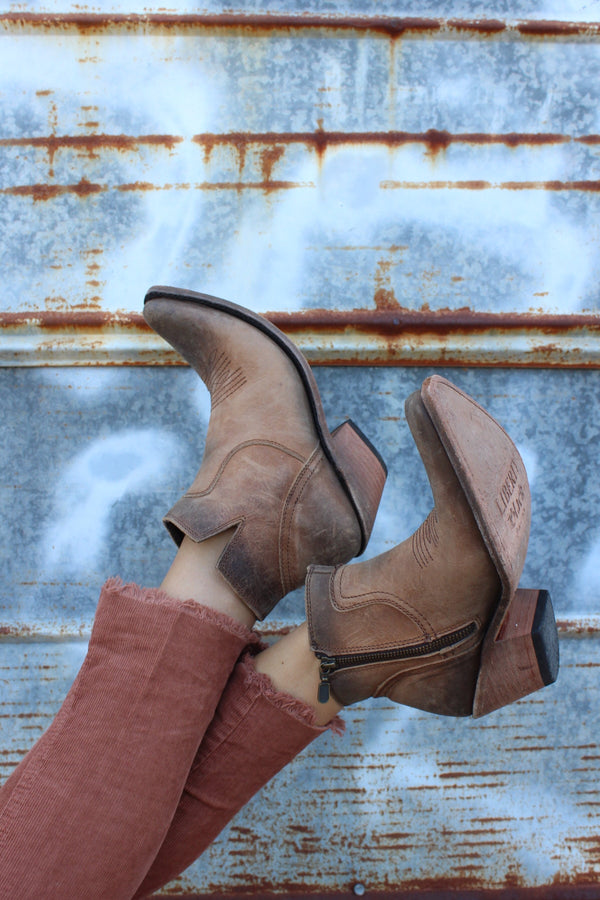 Liberty Black American Tan Bootie