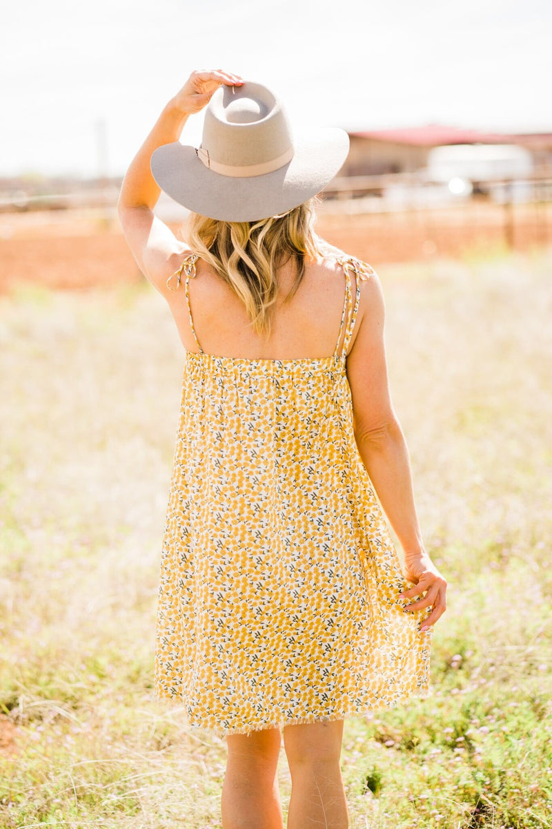 Yellow Daisy Spring Dress