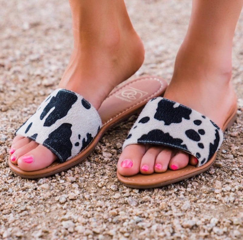 Ranch Cow Sandals