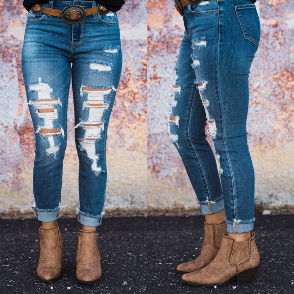 Cheryl Bomb Cropped Skinnies