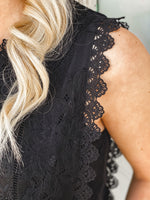 Andree Black Lace Top