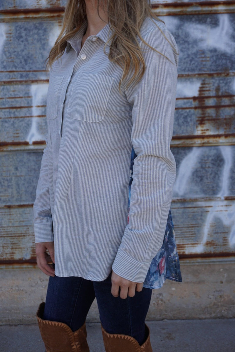 The Posey Button Down by Gypsy Junkies