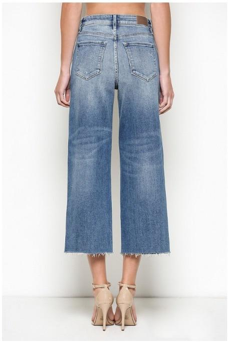 Hidden Nori Cropped Wide Leg Jeans
