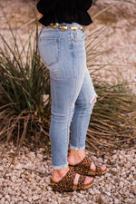 Hidden Amelia Light Wash Fray Skinny