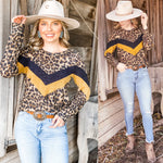 Chelsey Cheetah Block Top