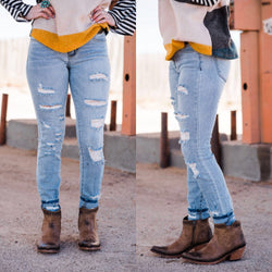 Jaynee Distressed Skinnies