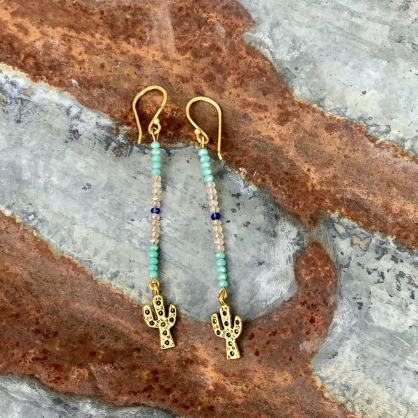Single Strand Cactus Earring