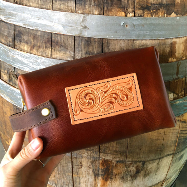 McIntire Leather Cosmetic Bag