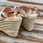 Humphrey Fuchsia Serape Wedge