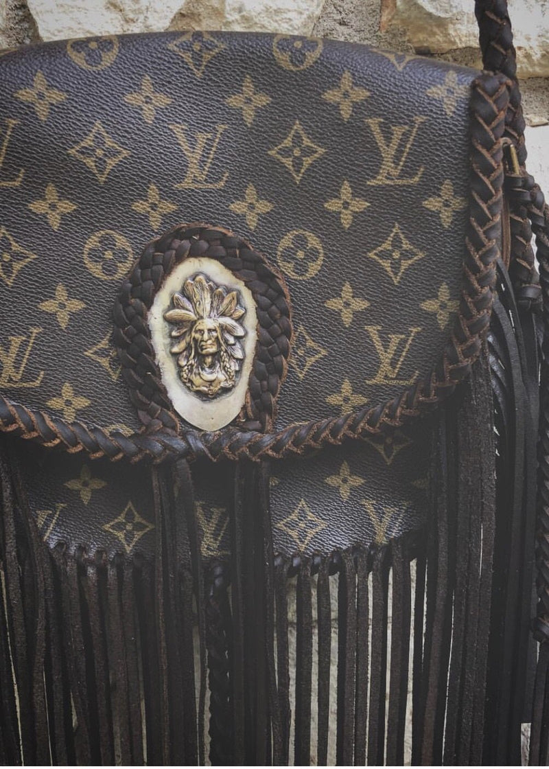 Leather And Vodka Indian Bag