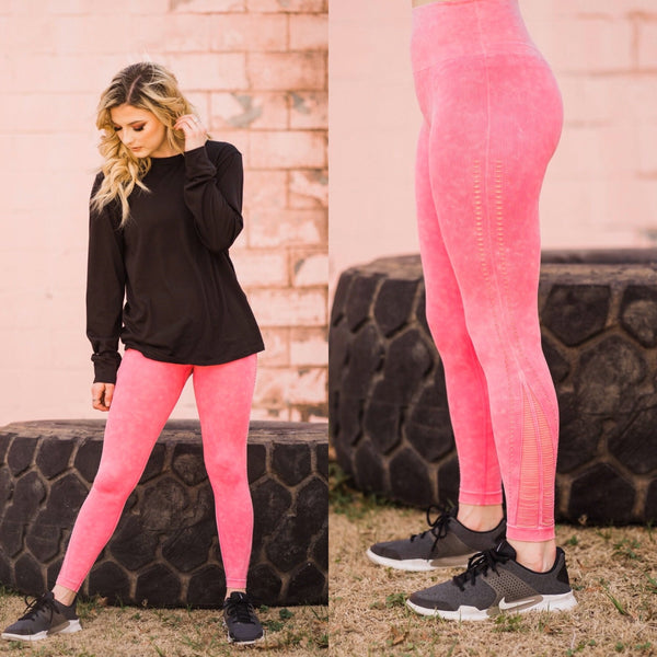 Fuchsia Faded Tights