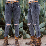 Shannon Faded High Rise Skinnies