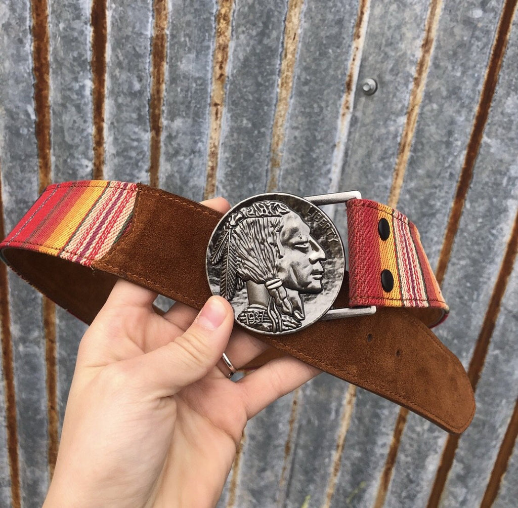 Outlaw Serape Nickel Belt