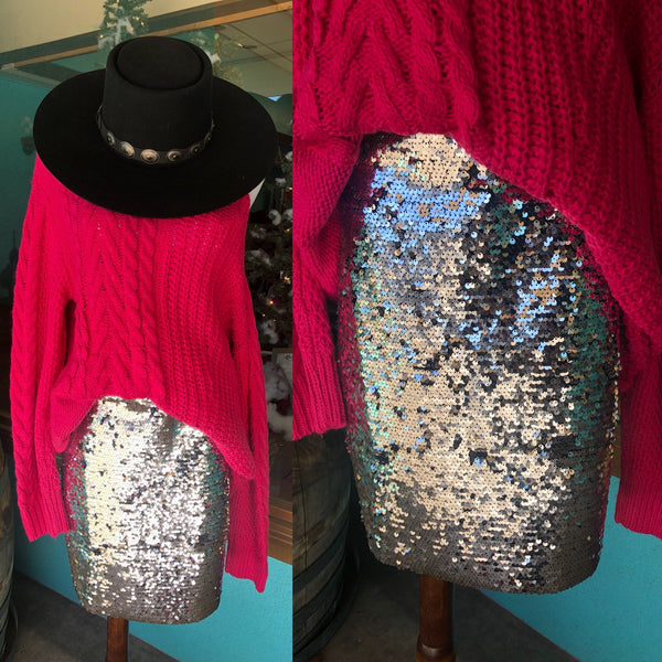 Kacey Sequin Skirt
